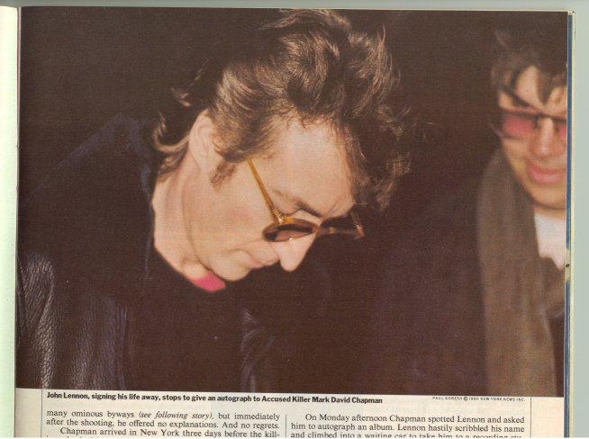 John Lennon Page In Fuller Up The Dead Musicians Directory
